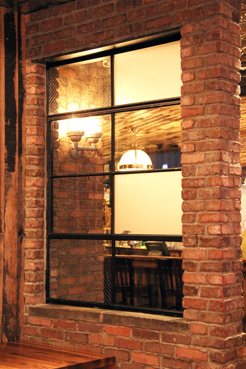 Reclaimed Thin Brick Wall