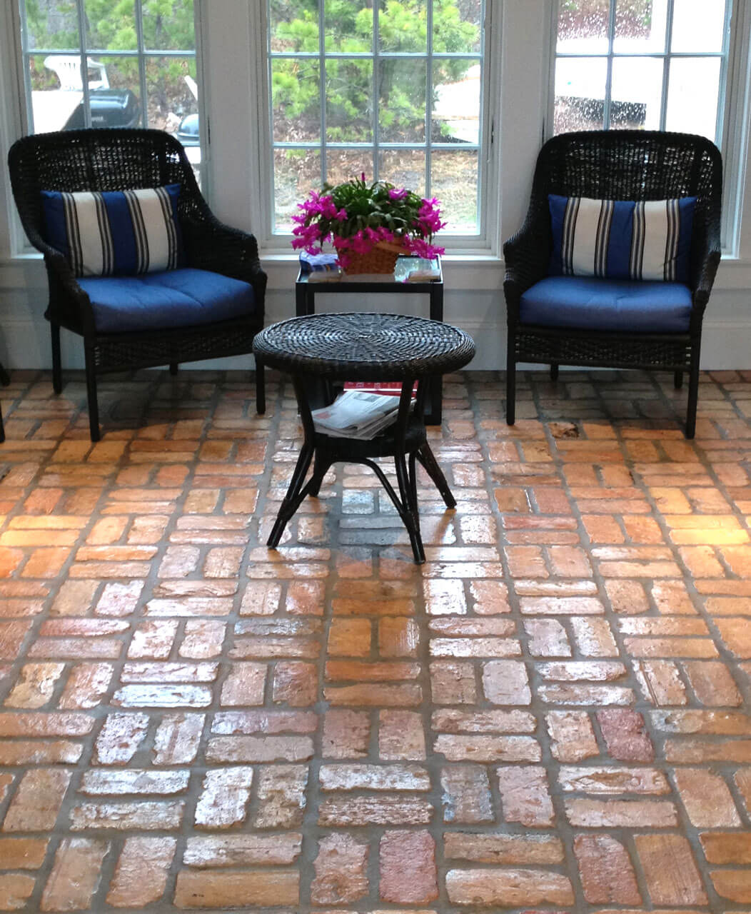 Reclaimed Brick Floor Porch