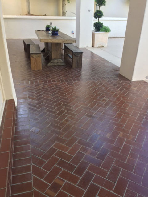 Clay Brick Floor