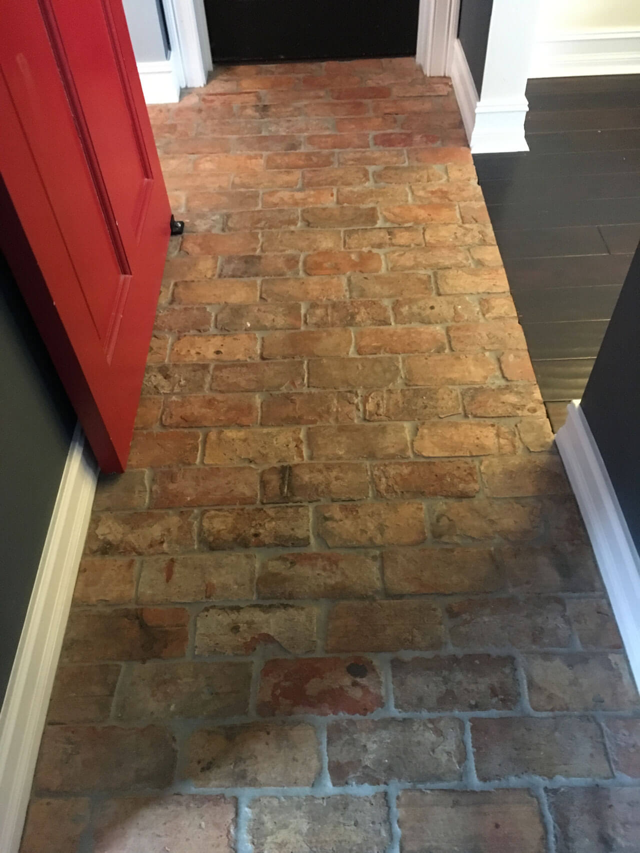 Reclaimed Thin Brick Floor