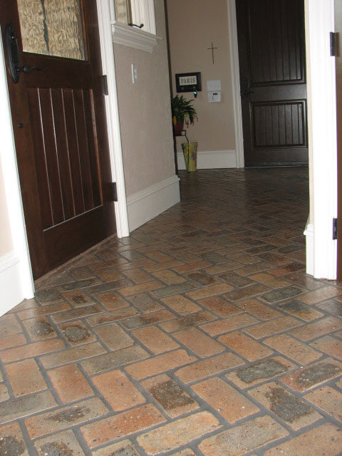 Reclaimed Brick Flooring
